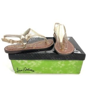 fb3f72f044a62 Sam Edelman Shoes - Sam Edelman Women s Greta Jute Met Lea Flat Sandal
